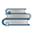 education and books isolated icon vector image vector image
