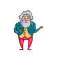 elegant senior old man in fashion style clothes vector image