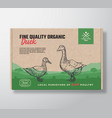 fine quality organic duck meat packaging vector image vector image