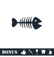 Fishbone icon flat vector image vector image