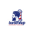 gentlemen barber shop logo design inspiration vector image vector image