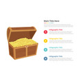 gold money box infographics template with 4 vector image vector image