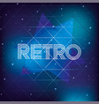 graphic retro 80s with neon style background vector image vector image