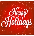Happy Holidays on abstract vector image vector image