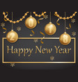 happy new year 2018 gold and black vector image vector image