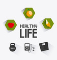 healthy life vector image