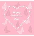 heart love with butterflies vector image vector image