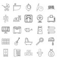home appliances icons set outline style vector image vector image