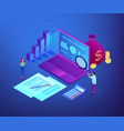 income statement isometric 3d concept vector image vector image