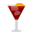 isolated cocktail vector image