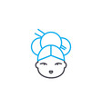 japanese woman linear icon concept japanese woman vector image vector image