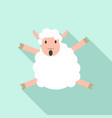 jumping sheep icon flat style vector image vector image