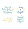 Lettering and calligraphy Christmas and New Year vector image vector image