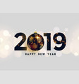 luxury 2019 new year background vector image vector image