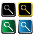Magnifying glass set vector image vector image