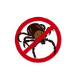 mite insect warning vector image