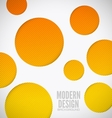 Modern background holes vector image vector image