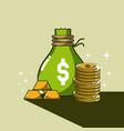 money and savings cartoons vector image