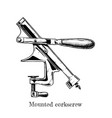 mounted corkscrew vector image