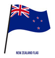 new zealand flag waving on white background new vector image