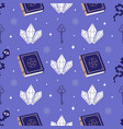 occult cartoon seamless pattern with spell book vector image vector image