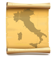 Paper Scroll with Italy vector image vector image