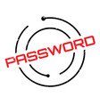 password rubber stamp vector image vector image