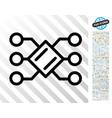 pool nodes flat icon with bonus vector image vector image