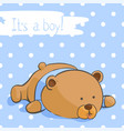 postcard with a funny bear for a boy vector image vector image