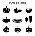pumpkin icon set vector image vector image