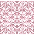 Red and white damask stylized seamless pattern vector image vector image