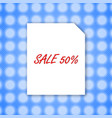 sale banner 50 template design on white paper vector image