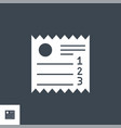 sales receipt related glyph icon vector image