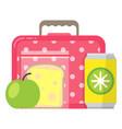 school lunch box meal schoolchildren healthy vector image