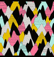 seamless pattern with decorative mountains in vector image