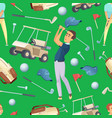 seamless pattern with sport at golf vector image