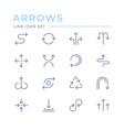 set color line icons arrows vector image vector image