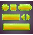 Set of green funny buttons vector image vector image