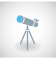 Simple icon of 3d telescope vector image vector image