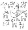 Soaring dove deers vector image vector image