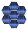Solar battery vector image