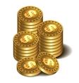 stacks golden coins vector image vector image