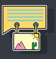 sticker email attachment icon paper document clip vector image
