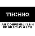 techno font - modern futuristic design vector image