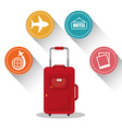 Travel vacation design vector image vector image