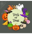 trick or treat traditional sweets and candies vector image vector image
