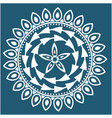 white abstract mandala blue background imag vector image