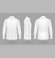white blank male shirt with long sleeves in front vector image
