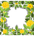 yellow flower blank card template vector image vector image