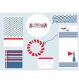 Marine design backgrouns set for summer vector image